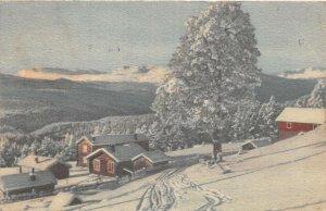 Lot145 painting postcard norway landscape