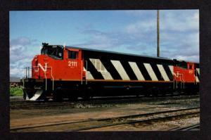 NB Canadian National Railroad Train Moncton New Brunswick Carte Postale Postcard