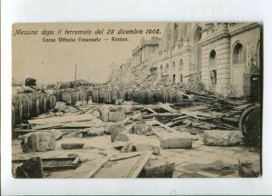 3144541 ITALY MESSINA 1908 earthquake Corso Emanuele Vintage PC
