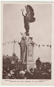 Sussex; Brighton & Hove's Memorial To King Edward RP PPC, Unposted c 1910's
