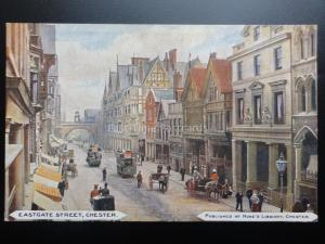 Cheshire: Chester, Eastgate Street, Old Postcard Pub by HUKES LIBRARY, Chester