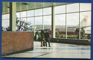 Monroe County Airport Rochester New York American Airlines Aviation postcard