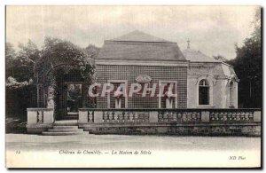 Old Postcard Chateau De Chantilly House Silvie