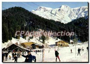 Modern Postcard Les Contamines The track Rents Domes of Miage and Berangere