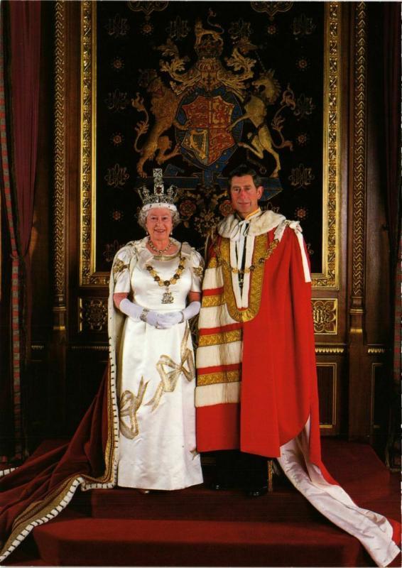 CPM HM Queen Elizabeth II & HRH Prince Charles BRITISH ROYALTY (836815)