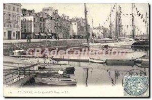 Old Postcard Le Havre Le Quai D'Orleans