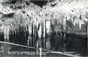 Stanton Missouri~Meramec Caverns~Submarine Gardens and Crystal Lake~Real Photo~