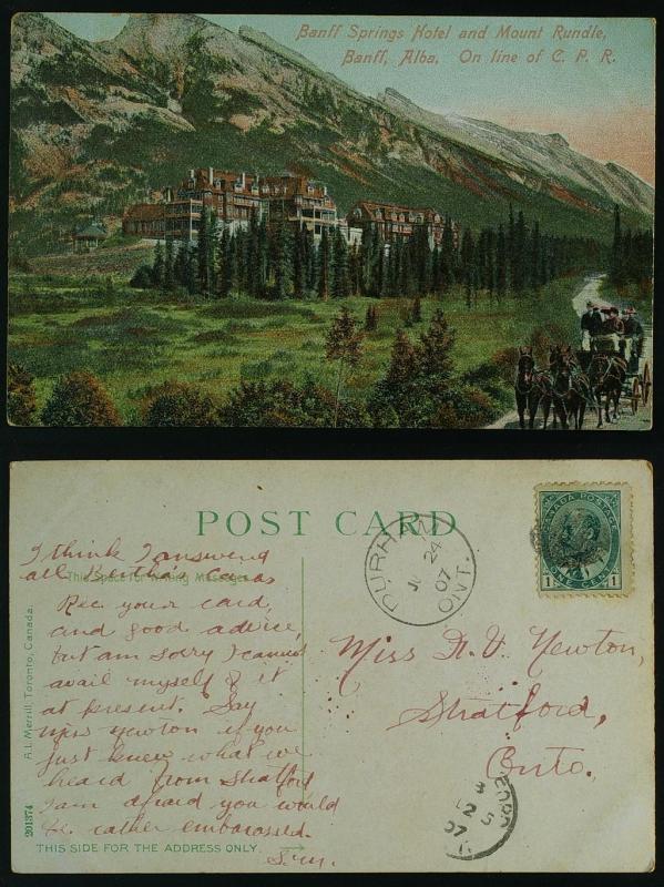 Banff Springs  CPR Durham Ont 1907