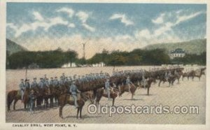 Cavalry Drill, West Point, N.Y., USA Military Unused light crease top right c...