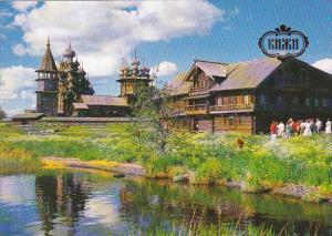 Russia Kizhi Oshevenev's House From The Village Of Oshevnevo 1876