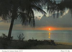 CAYMAN ISLANDS , B.W.I. , 1990s ; Evening Beach