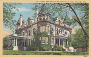 Utah Salt Lake City Governor's Residence Curteich