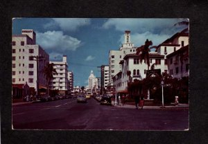 FL Looking North Collins Ave Avenue Miami Beach Florida Postcard Embassy Hotel