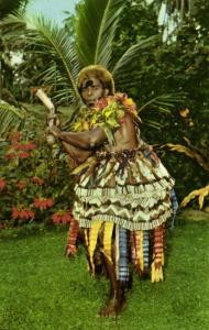 fiji islands, Native Warrior Club Dancer (1960s) Stinsons 1064