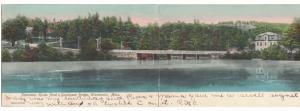 Massachusetts Winchendon , Panorama View Hun's Pond & Goodspeed Bridge