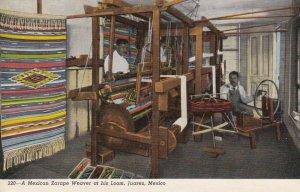 Mexico Juarez Mexican Zarape Weaver At His Loom Curteich sk1378a