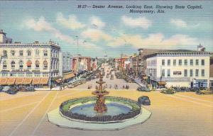 Alabama Montgomery Dexter Avenue Looking East Showing State Capitol Curteich