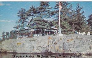 Waterfront View, Fraisier's Island, McGregor Bay, Ontario, Canada,40-60´s