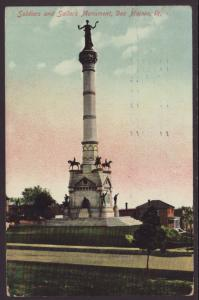 Soliders and Sailors Monument,Des Moines,IA Postcard