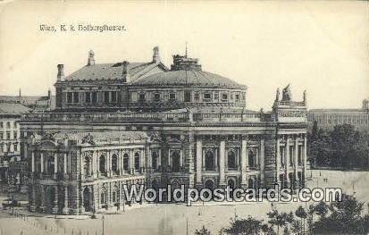 K K Hofburgtheater Wien, Vienna Austria Unused