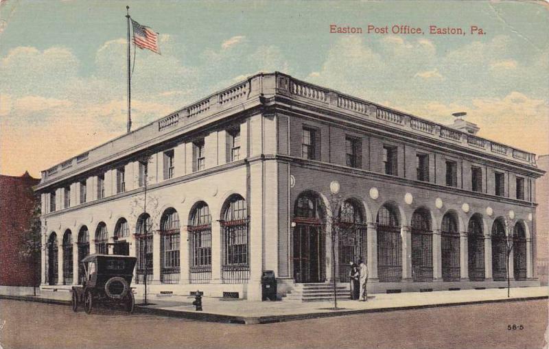 Exterior,  Easton Post Office,  Easton,  Philadelphia,  00-10s