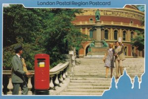 Royal Albert Hall London New 1980s Post Pillar Box Royal Mail Postcard