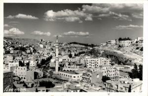 jordan, AMMAN, Partial View, Minarets Al-Husseini Mosque, Islam (1950s) RP