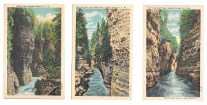 NY Adirondacks Ausable River Chasm 3 Different Views 77 79 83 Linen Postcards