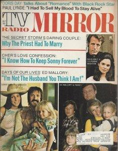 TV Radio Mirror Vintage July 1973 Magazine Sonny Cher and Chastity Ed Mallory