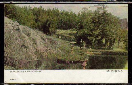 Pool in Rockwood Park, St John, NB early colour PC