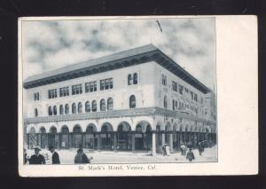 VENICE CALIFORNIA ST. MARK'S HOTEL ANTIQUE VINTAGE POSTCARD DOWNTOWN
