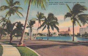 Florida Miami Beach D 42 Indian Creek Drive Pancoast Lake And Hotels 1945