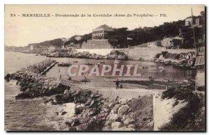 Postcard Old Marseille Promenade Anse Corniche Prophete