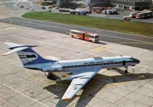 MALEV airline's TU-134 Airplane , Budapest , Hungary , 50-70s