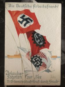 Mint WW2 Germany propaganda Postcard the German Labor Front Third Reich