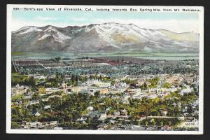 Riverside View From Mt Rubidoux Riverside CA Unused c1920s
