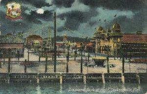 JACKSONVILLE , Florida , 1909 ; Dixeland Amusement Park at Night
