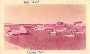Peggy's Cove Nova Scotia Canada Harbor View Real Photo Non PC Back JA455492