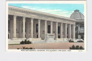 ANTIQUE POSTCARD CONNECTICUT NEW HAVEN YALE WORLD WAR MEMORIAL COLONNADE