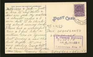 Postmark 1949 We've Got You Spotted Look Out For Air Raids Linen Postcard