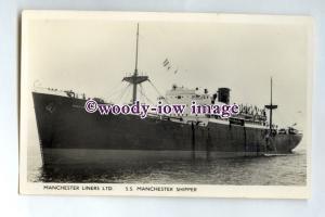 pf0139 - Manchester Liners Cargo Ship - Manchester Shipper built 1943 - postcard