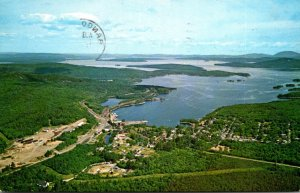 Maine Greenville Junction Aerial View On West Cove Of Moosehead Lake 1969