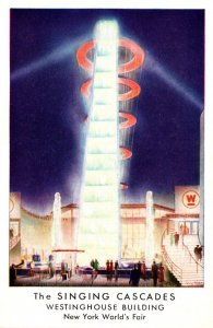 New York World's Fair 1939 The Singing Cascades Westinghouse Building