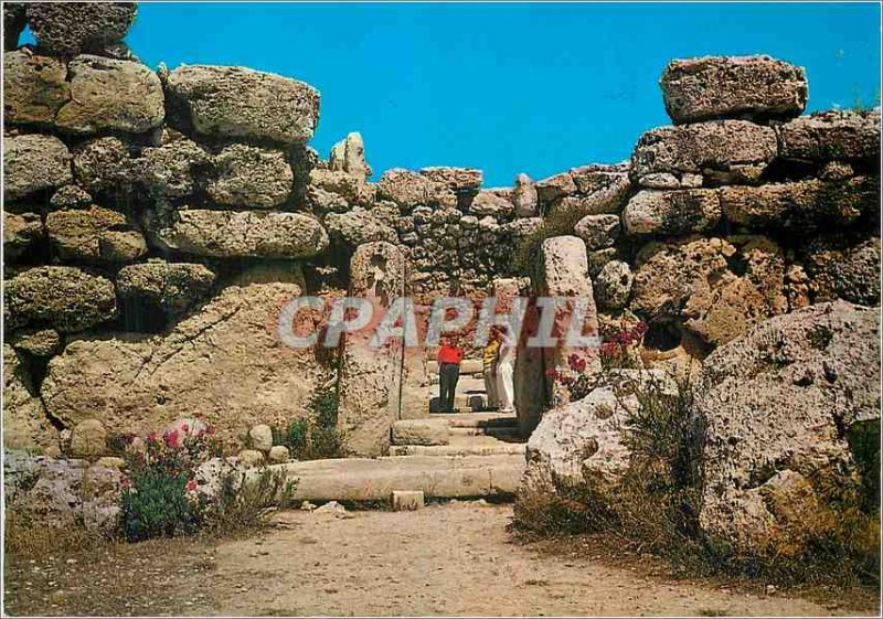 Postcard Modern Gozo Ggantija temples Remarkable ruins of a temple dedicated ...
