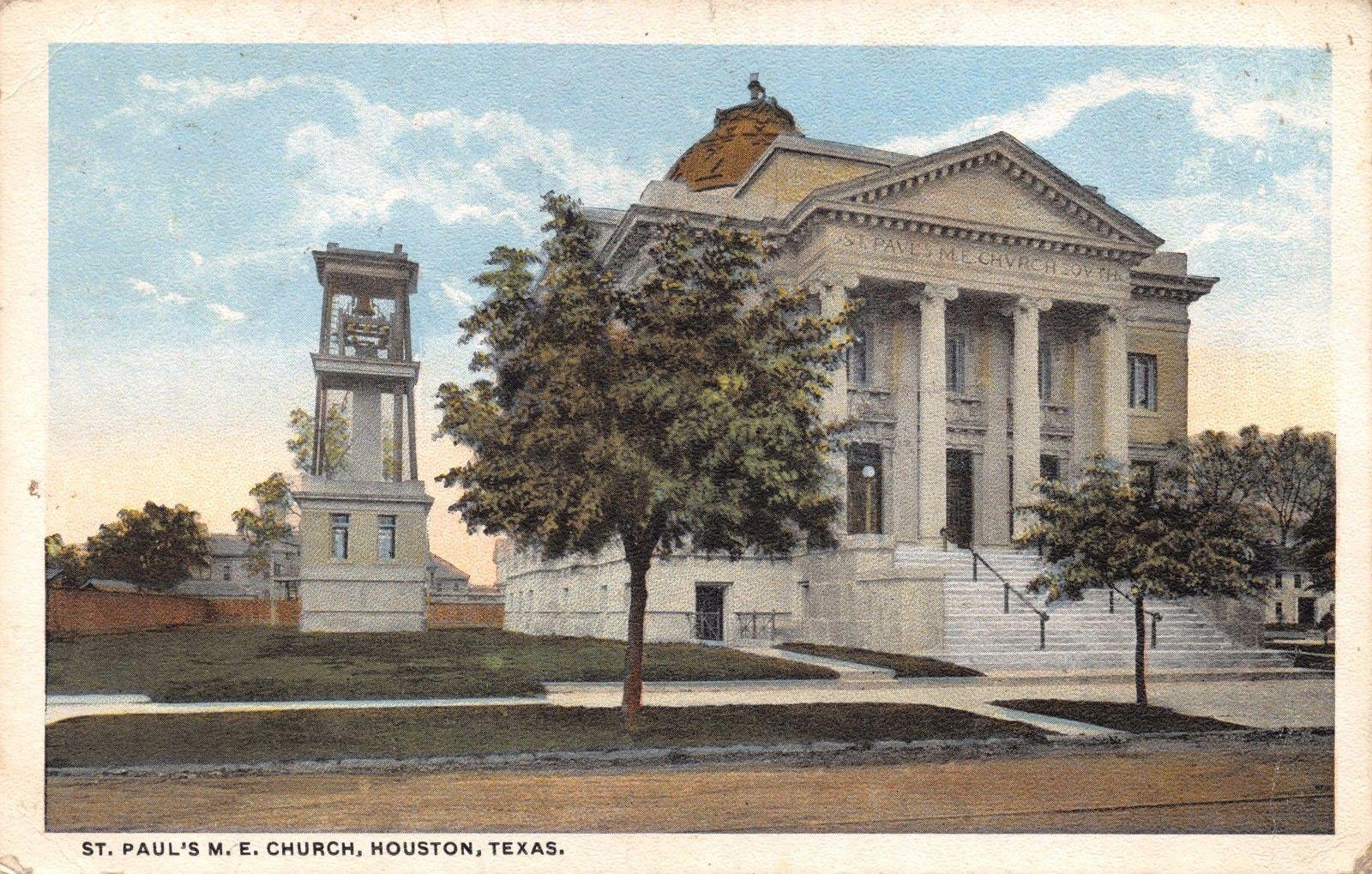 Vintage 1923 Postcard St  Paul's Methodist Church, Houston
