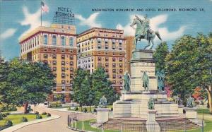 Virginia Richmond Washington Monument And Hotel Richmond