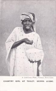 SIERRA LEONE, Africa, 10-20s; Country Girl At Toilet