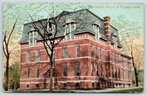 Hoosick Falls New York~High School~2nd Empire Architecture~Mansard Roof~1910 PC