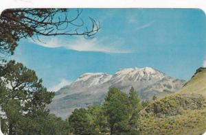 A view of the 17,000 foot lxtaccihuatl Volcano,  Mexico,  40-60s