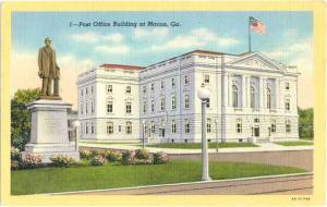Post Office Building, Macon, Georgia, GA, Linen